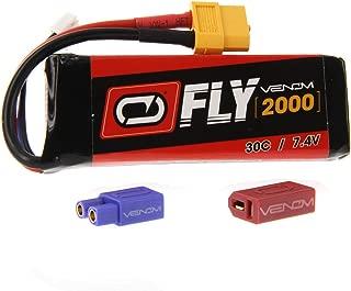 Venom Fly 30C 2S 2000mAh 7.4V LiPo Battery with UNI 2.0 Plug (XT60/Deans/EC3) - Compare to E-flite EFLB18002S