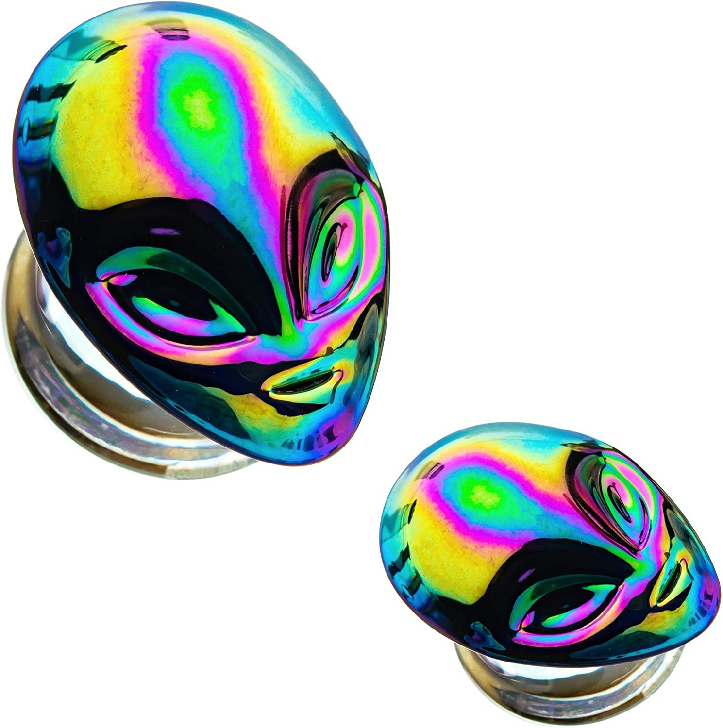 """Details about  /PAIR-Galaxy Purple 2-Sided Acrylic Double Flare Ear Plugs 25mm//1/"""" Gauge Body Je"""