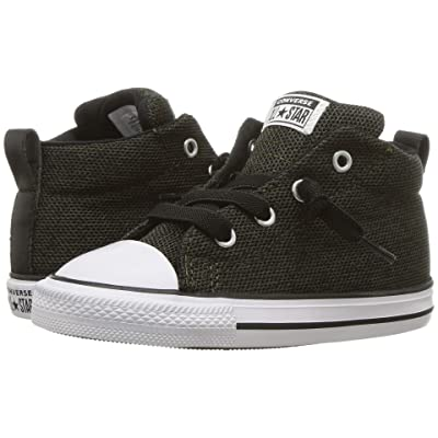 Converse Kids Chuck Taylor All Star Street Mid (Infant/Toddler) (Utility Green/Black/White) Boys Shoes