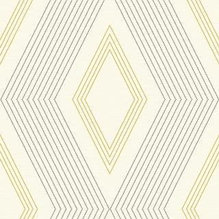 York Wallcoverings GE3692 Ashford Geometrics Aspen Wallpaper, Cream/Medium Grey/Medium Yellow