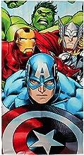 Marvel Avengers Strand Handtuch, Baumwolle, Blau, 140cm x 70cm