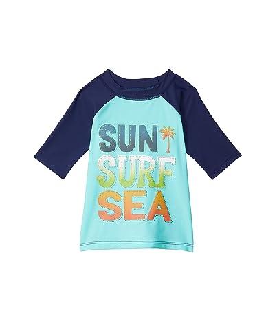 Hatley Kids Paradise Short Sleeve Rashguard (Toddler/Little Kids/Big Kids) (Blue) Boy