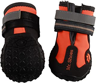 vecomfy Waterproof Dog Shoes for Large Dogs,Outdoor Mountaineering Non-Slip Dog Boots Protect Paws by