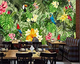 Mural Pared Wallpaper Living Room Bedroom Background 3D Wallpaper Hand Painted Parrot Tropical Rainforest Background Wall200X140Cm