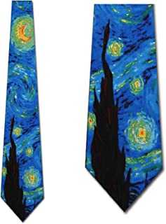 The Starry Night II Mens Necktie by Three Rooker