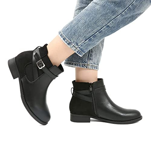 b0edf8940a68b Womens Vintage Black Leather Ankle Boots: Amazon.co.uk
