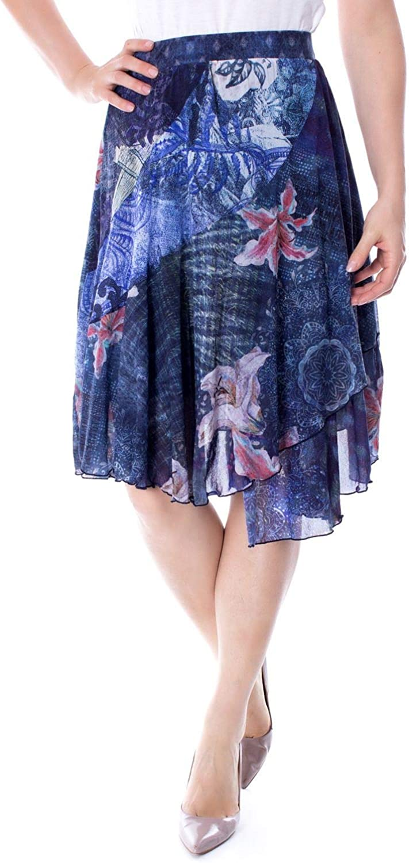 Desigual Women's 19SWFK08blueE bluee Polyamide Skirt