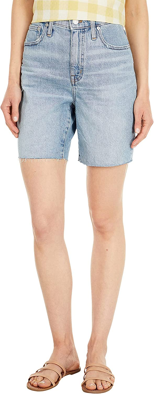 Madewell High-Rise Mid Length Shorts Light Vintage