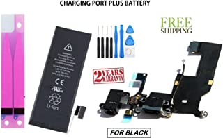 Replacement Battery for iPhone 5S & 5C-1560mAh with Black Charging Port+Tools