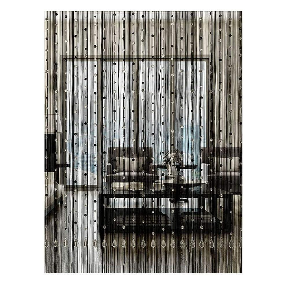 繁栄七面鳥プレフィックスLIQICAI ビーズカーテン ビーズが付いているひもラインタッセルカーテン ドア窓ひもカーテン 間仕切り 結婚式のコーヒーハウスの家の装飾のため (色 : ブラック, サイズ さいず : 1.6x1.6m)