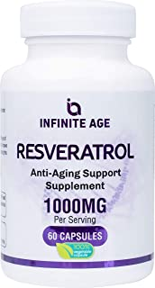 Infinite Age: Resveratrol - Pure Trans-Resveratrol Antioxidant Supplement with Anti Aging, Cardiovascular and Immune Suppo...