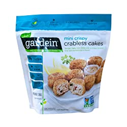 Gardein Mini Crispy Crabless Cakes, Meatless Protein Packed Crab Cakes, 8.8 Ounce (Frozen)