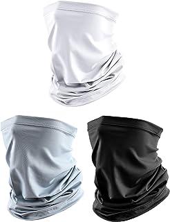 3 Pieces Men's Neck Gaiter Summer Winter Sunscreen Neck Gaiter Lightweight Face Mask for Outdoor Activities
