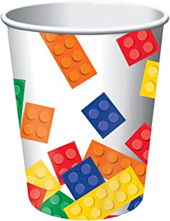 Creative Converting Block Party Hot/Cold Cups 8-Pieces, 9 oz Capacity, Multicolour
