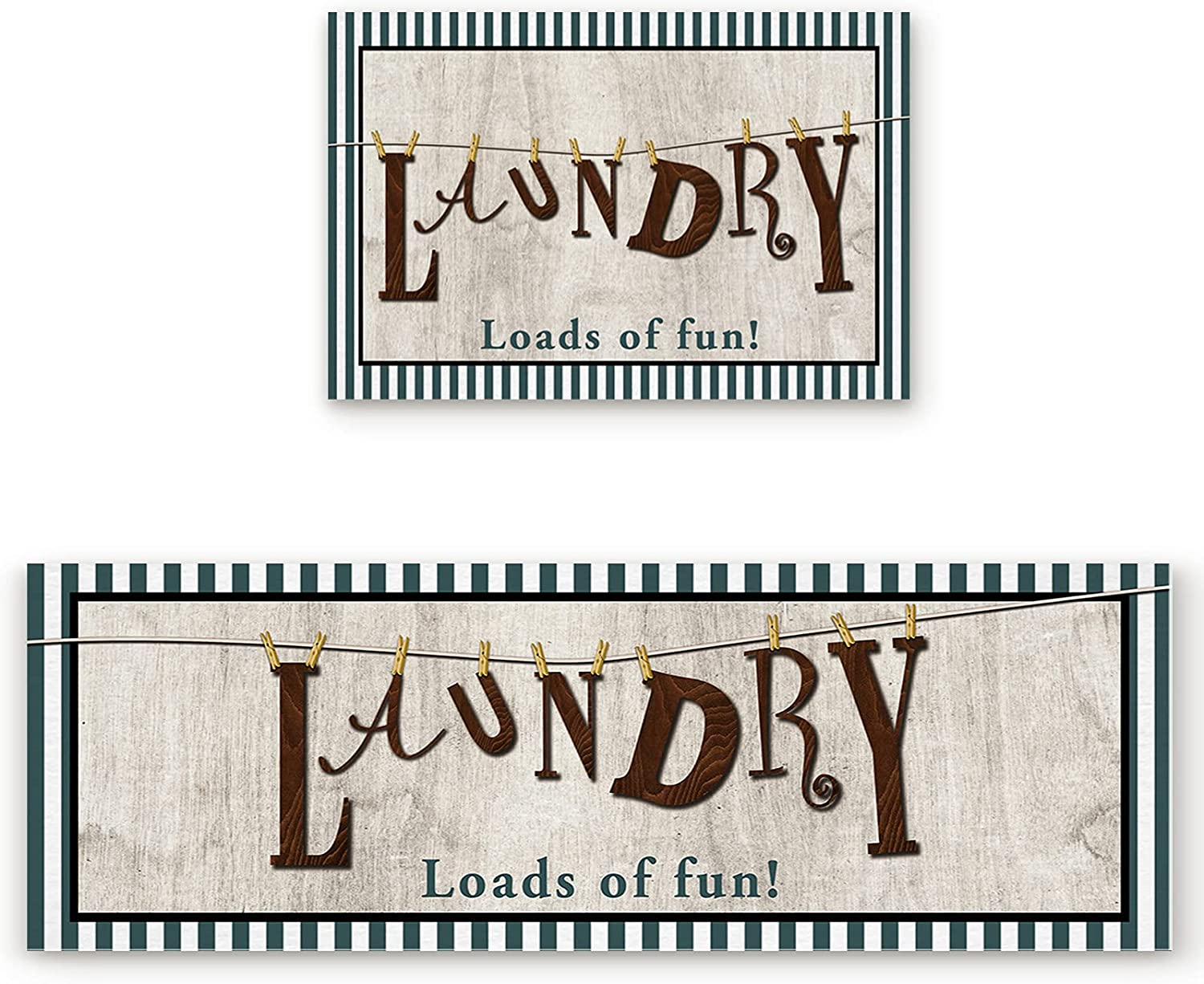 2 Piece Laundry Rugs Set Retro Manufacturer Finally resale start direct delivery Fun of Soft Room W Loads