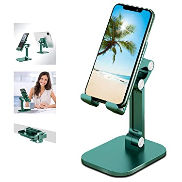 Winproo Cell Phone Stand Upgraded Phone Stand Foldable Portables Phone Holder 120°Angle Tablet Stand Height Adjustable for iphone Stand Non-slip Phone Stand for Desk for Smartphones/ipad/Tablet/kindle