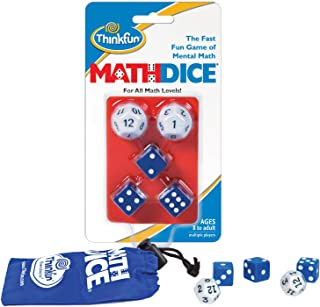 ThinkFun Math Dice Fun Game that Teaches Mental Math Skills to Kids Age 8 and Up