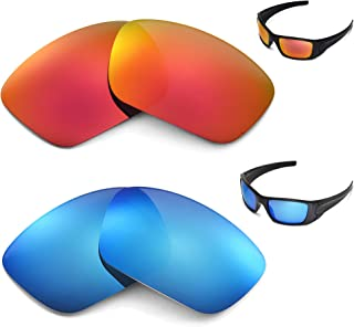 New Walleva Polarized Ice Blue + Fire Red Lenses For Oakley Fuel Cell
