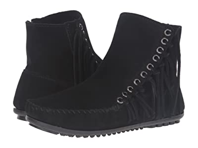 Minnetonka Willow Boot (Black Suede) Women