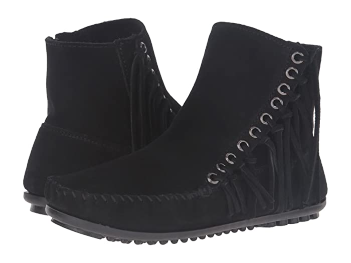 Minnetonka  Willow Boot (Black Suede) Womens Pull-on Boots