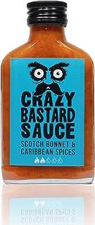 Crazy Bastard Sauce - Scotch Bonnet & Karibische Gewürze - Würzig, Schmackhaft und Vollmundigeine Chilisauce perfekt als Jerk-Sauce und auf Reisgerichten 1 x 100ml flasche