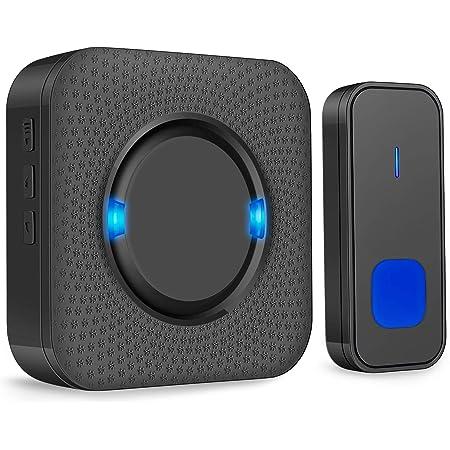 Cam Campanello di casa Campanello wireless senza batteria Kit campanello intelligente for uso domestico 58 Melodia e volume a 4 livelli IP44 Trasmissione a lunga distanza di livello impermeabile oro