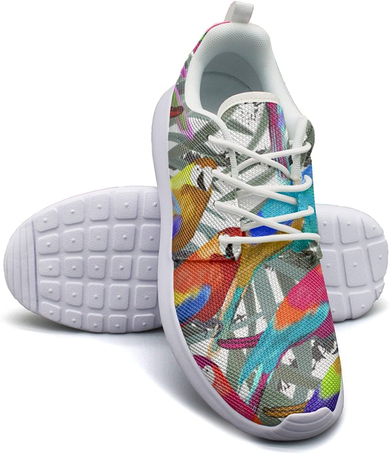 ERSER colorful Rainbow Parreds Breathable Running shoes Women