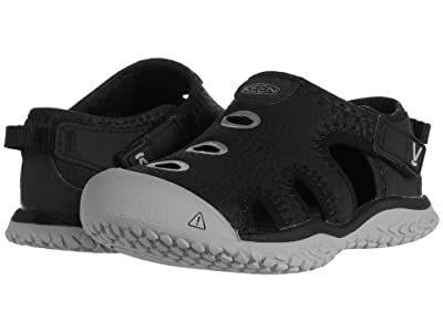 Keen Kids Stingray (Toddler) (Black/Drizzle) Boy
