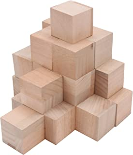 Unfinished Wood Block, Segarty Blank Wooden Blocks 24pcs 2 Inch Natural Solid Smooth Surface Square Wood Cubes, Ideal for Baby Shower, Puzzle Making, Wooden Craft, DIY Project