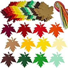 Supla 120 Pcs 12 Colors Maple Leaves Gift Tags Sign with Strings Fall Wedding Party Favors Tags Escort Cards Wishing Tree Tags Name Place Cards Hanging Sign Tags Leaves Paper Cutouts with Holes