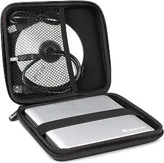 Salcar - Estuche Protector Universal Funda de Superficie Dura para Unidades de reproducción Interna y externas para Apple & DVD CD BLU Ray Grabador Externo HDD Disco Duro universales Quemar DVD