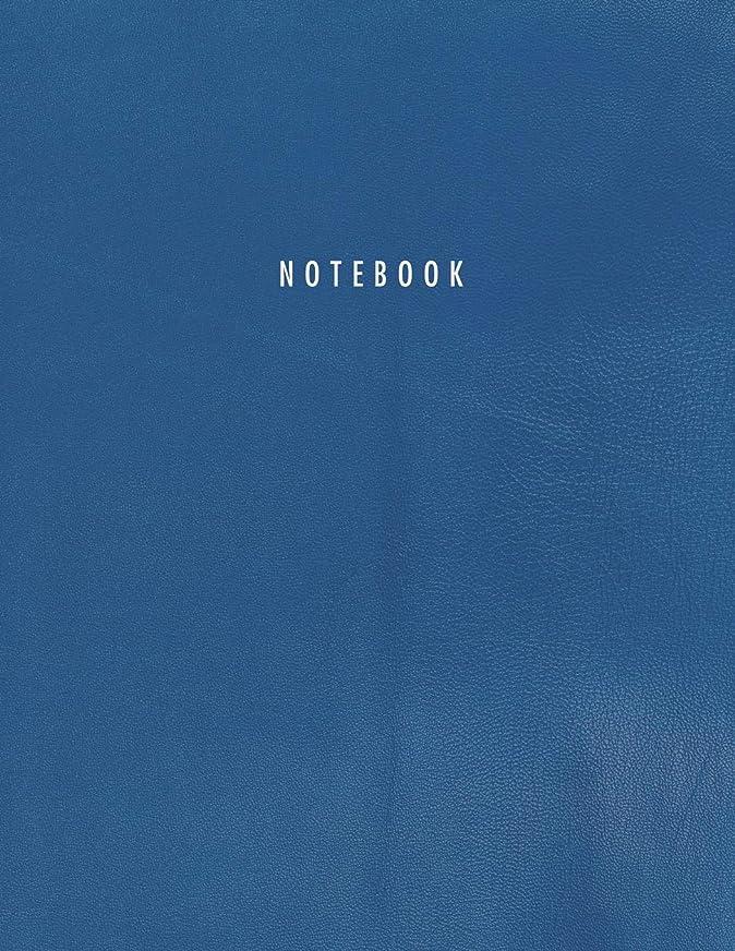 列挙する文句を言う計算Notebook: Blue Leather Style   150 Legal College-ruled Pages   Letter Size (8.5 x 11) - A4 size