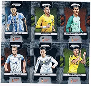 2018 Panini Prizm World Cup Hand Collated Complete Soccer Futbol Set of 300 Cards Lionel Messi Cristian Ronaldo Neymar Mbappe Paul Pogba and many more... France England Portugal Croatia Brazil Argentina...