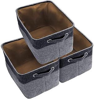 HGYB Lot de 3 Grands Paniers de Rangement Ensemble de Boîtes de Rangement Cube de Rangement Organisateur Pliable en Tissu ...