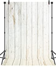 Sensfun 5x7ft White Wood Planks Silk Photography Backdrop, Newborn Photography Baby Photo Studio Props, Adults Portrait Pictures Background