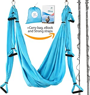 AR Brend Aerial Yoga Swing, Antigravity Yoga Hammock, Aerial Trapeze, Sling, Inversion Tool, Kids and Adult Aerial Yoga