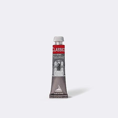 MAIMERI CLASSICO 20 ML Extra Fine pittura a olio per artisti, colore rosso cadmio scuro