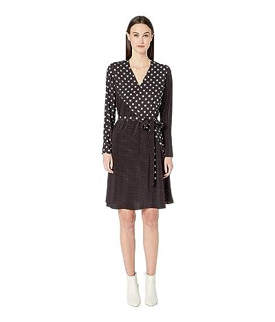 Paul Smith Polka Dot Wrap Dress (Black) Women