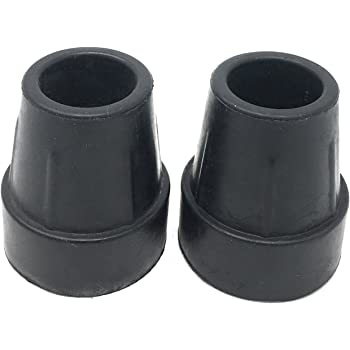 PCP Replacement Cane Tips, Black, 1 inch