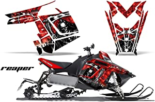 2011-2014 Polaris PRO-R, RMK, Rush, Switchback, Assault AMRRACING Sled Graphics Decal Kit - Reaper - Red