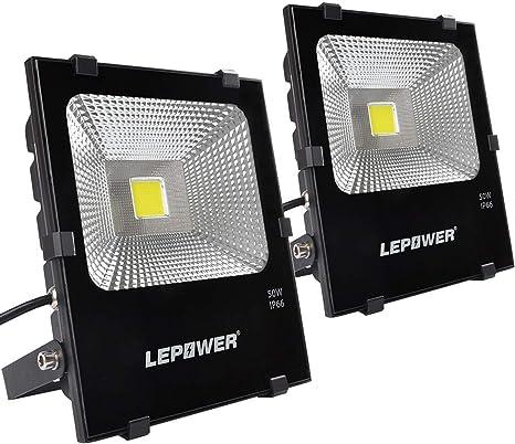 LEPOWER 50W LED Flood Light 2 Pack