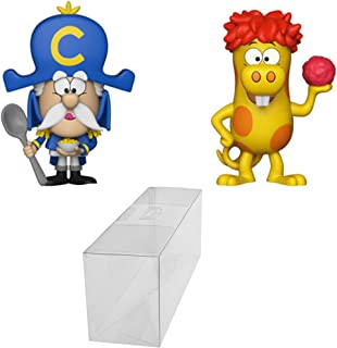 Funko Vynl: Ad Icons Captain Crunch & Crunchberry Beast Vynl Specialty Series 2-Pack Figure Bundle with 1 PopShield Pop Box Protector.