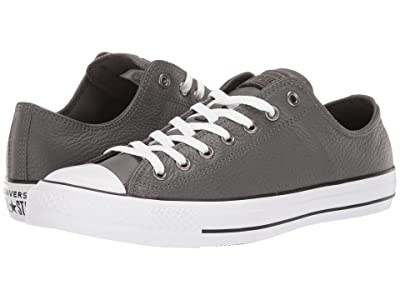 Converse Chuck Taylor All Star Leather Ox (Carbon Grey/White/Black) Shoes