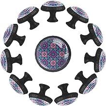 Kleurrijke Mandala, Ladeknop Trek Handvat Perfect Ontwerp Dressoir Kast Garderobe Trekt Handvatten 12 Stks Knoppen voor Ke...