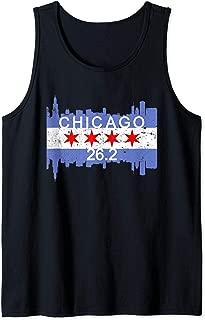 26.2 Mile Marathon Runner Chicago Flag Running Race Gift Tank Top