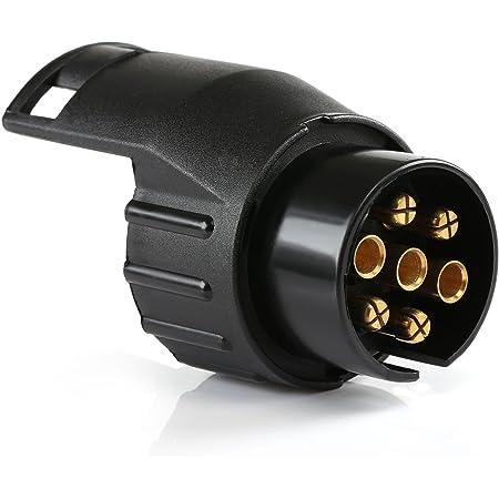 Qiilu Trailer Adapter 13 Zu 7 Pin Anhänger Adapter 13 Auf 7 Polig 12v Adapter Für Pkw Trailer3 Auto
