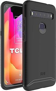 TUDIA DualShield TCL 10Lケース/TCL 10 Liteケース用 [マージ] デュアルレイヤーハードマットバック ヘビーデューティースリムケース TCL 10L/TCL 10 Lite用 (マットブラック)