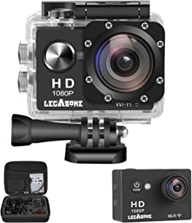 Legazone WIFI 2.0'' 12MP HD 1080P 170Wide Sports Camera Action DV + Shockproof Carrying Bag Waterproof Helmet Camcorder