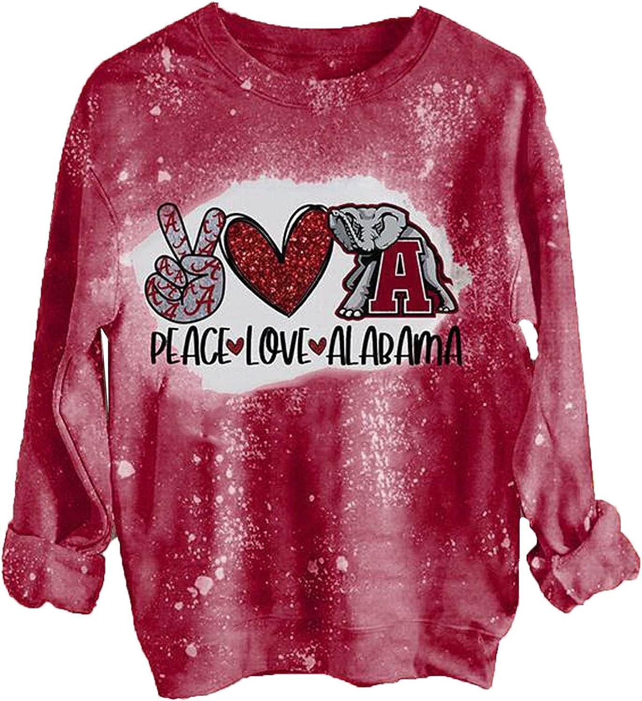 Graphic Hoodies for Women Oversized Love Heart Tie-dye Print Fashion Sweatshirt Pullover Long Sleeve Blouse
