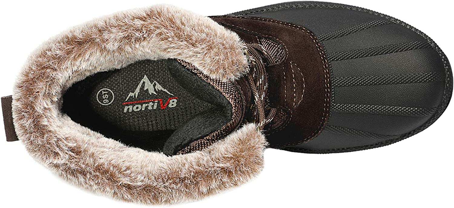 NORTIV 8 Mens Warm Winter Snow Boots Outdoor Anti-Slip Lightweight Cold Weather Boots